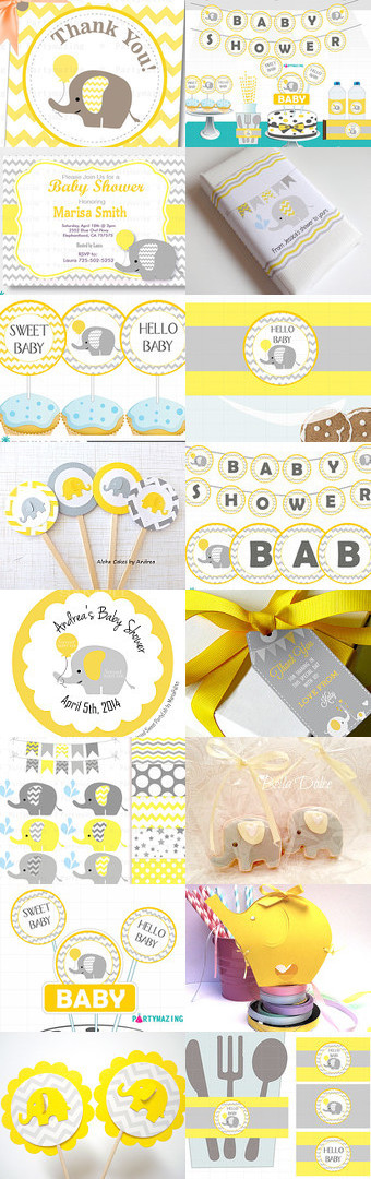 Chevron Yellow Baby Shower Ideas