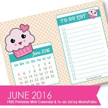 Free Printable June 2016 Calendar + To-do List