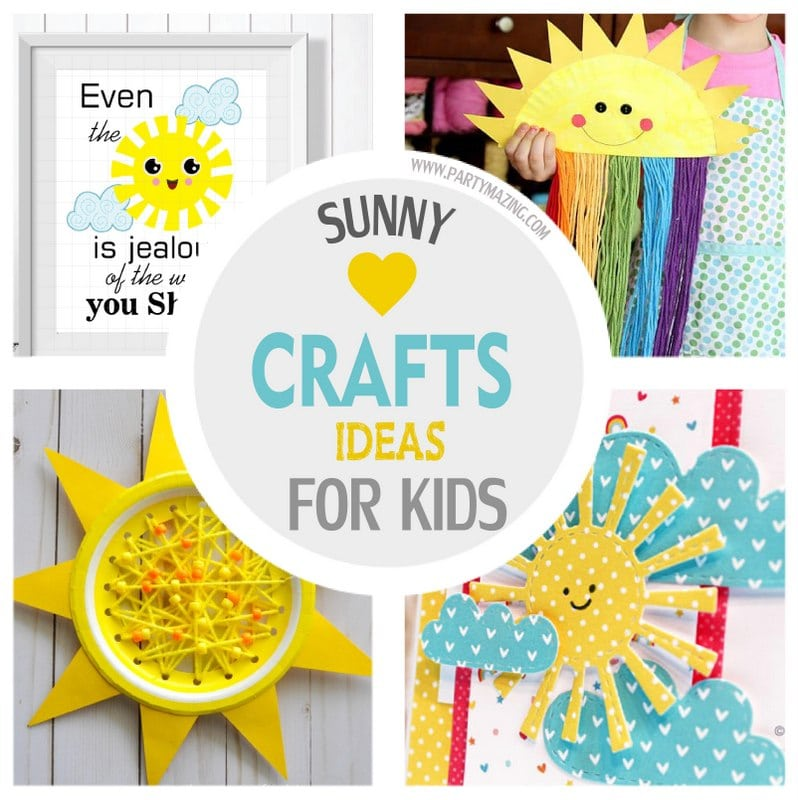 Sunny Craft Ideas for Summer for Your Kids - Free Download included by Partymazing Just Download and Print!! For more inspiration for your next party visit www.partymazing.com