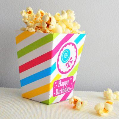 Candyland Printable Popcorn Box |PK05| E499