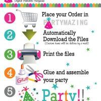 Candyland Bag Toppers, Rainbow Printable Bag Tags, Printable Party Favor Bag Topper , Instant download D691