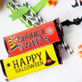 Happy Halloween Candy Wrappers, Printable PDF Chocolate Bar Labes, Printable Party  Chocolate Bar Labels, Instant download D482