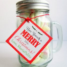 Last Minute Editable Christmas Party Treat Tag, Have a Merry Little Christmas Holiday Candy Baggie Tag, Favor Tags, Instant Download D793