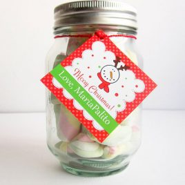 Last Minute Editable Christmas Party Treat Tag, Holiday Candy Baggie Tag, Favor Tags, Printable Instant Download D792