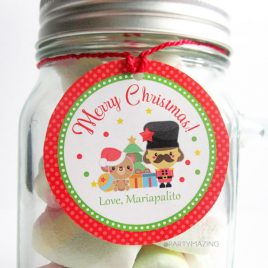 Last Minute Printable Christmas Labels, Editable Kawaii Nutcracker Gift Sticker Tags, Merry Christmas Tags, Stickers, Gift Tags D786