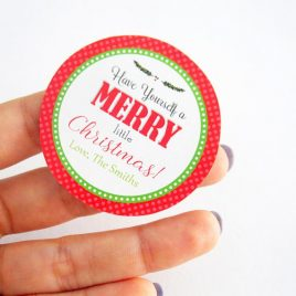 Last Minute Printable Christmas Labels, Editable Personalized Diy Tags, Merry Christmas Tags, Stickers, Gift Tags, Cupcake Toppers, D794