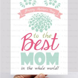 Mother's Day Card, Happy Mothers Day Printable Card, Mothers Day Gift, Mums Gift, Flower Card, Instant Download, D398
