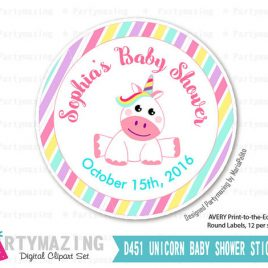 Unicorn Stickers, Printable Custom Tags, PERSONALIZED Printable Stickers, Candyland Party Stickers D751