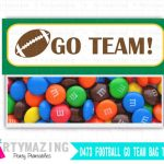 Football Bag Toppers, Superbowl Party, Printable PDF Treat Bag Tags, Printable Party Favor Bag Topper , Instant download D473