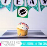 Football Cupcake Toppers, Superbowl Party, Printable Cupcake Toppers, DIY Party Tags, Instant download, Football Collection D474