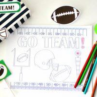 Football Printable Party, Go Team, Full Party, Sport Party, Tailgate PARTY, Diy Printable Banner, Football Collection D476