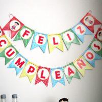 Superheroe Banderin Imprimible, Feliz Cumpleaños, Fiesta de Superheroes D594