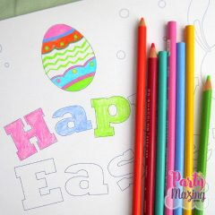 Printable Happy Easter Coloring Page F011