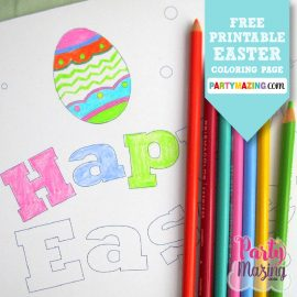 Free Printable Happy Easter Coloring Page
