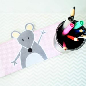 Cute Animal Tin Can Printable Pen Organizer F008