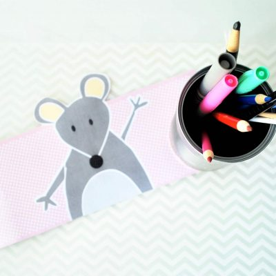 Cute Animal Tin Can Printable Pen Organizer F008
