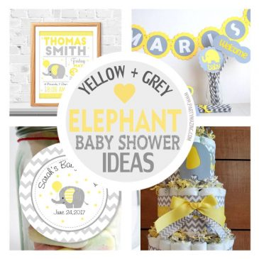 15 Amazing Yellow and Grey Elephant Chevron Baby Shower Ideas