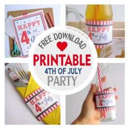 FREE 4th of July Printable Set, Instant Download