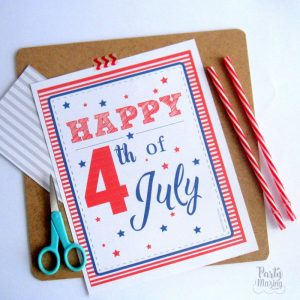 Printable 4th of July Party Decor Set F014