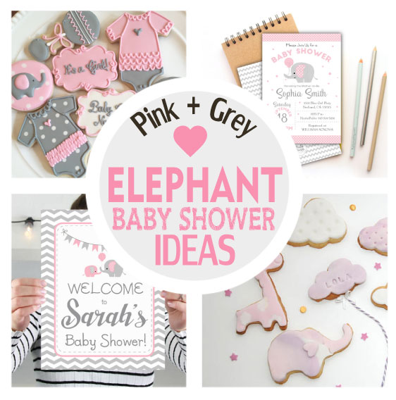 Pink And Gray Elephant Baby Shower Decorations: Pink And Grey Elephant Baby Shower Ideas + Party
