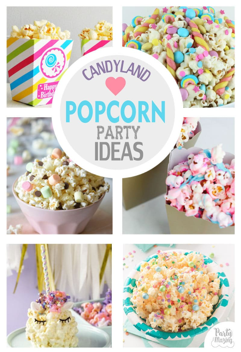 Candyland Popcorn Party Ideas by Partymazing. Get in the mood of a Candyland colorful party with these partymazing ideas. Visit www.partymazing.com for more Party & Crafts for your next Party. – Partymazing