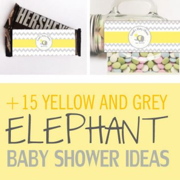 15 Amazing Yellow and Grey Elephant Chevron Baby Shower Ideas