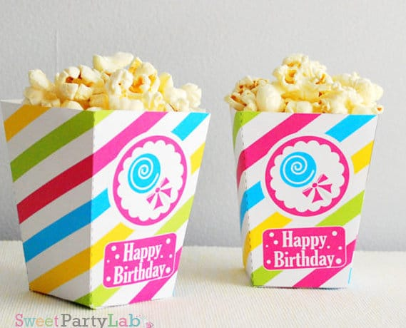 Printable CANDYLAND Popcorn Boxes by Partymazing. Candyland Popcorn Party Ideas by Partymazing.com. Get in the mood of a Candyland colorful party with these partymazing ideas. Visit www.partymazing.com for more Party & Crafts for your next Party.