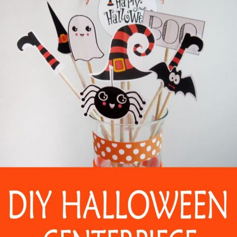 Printable Halloween Centerpiece DIY- Free printable Download from Partymazing.com