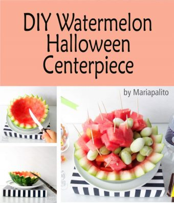 DIY Watermelon Halloween Centerpiece for your kid's Halloween Party