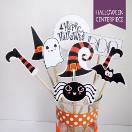 PRINTABLE HALLOWEEN CENTERPIECE