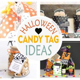 +9 Last Minute Candy Halloween Tags