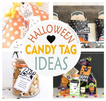 Last Minute Candy Halloween Tags