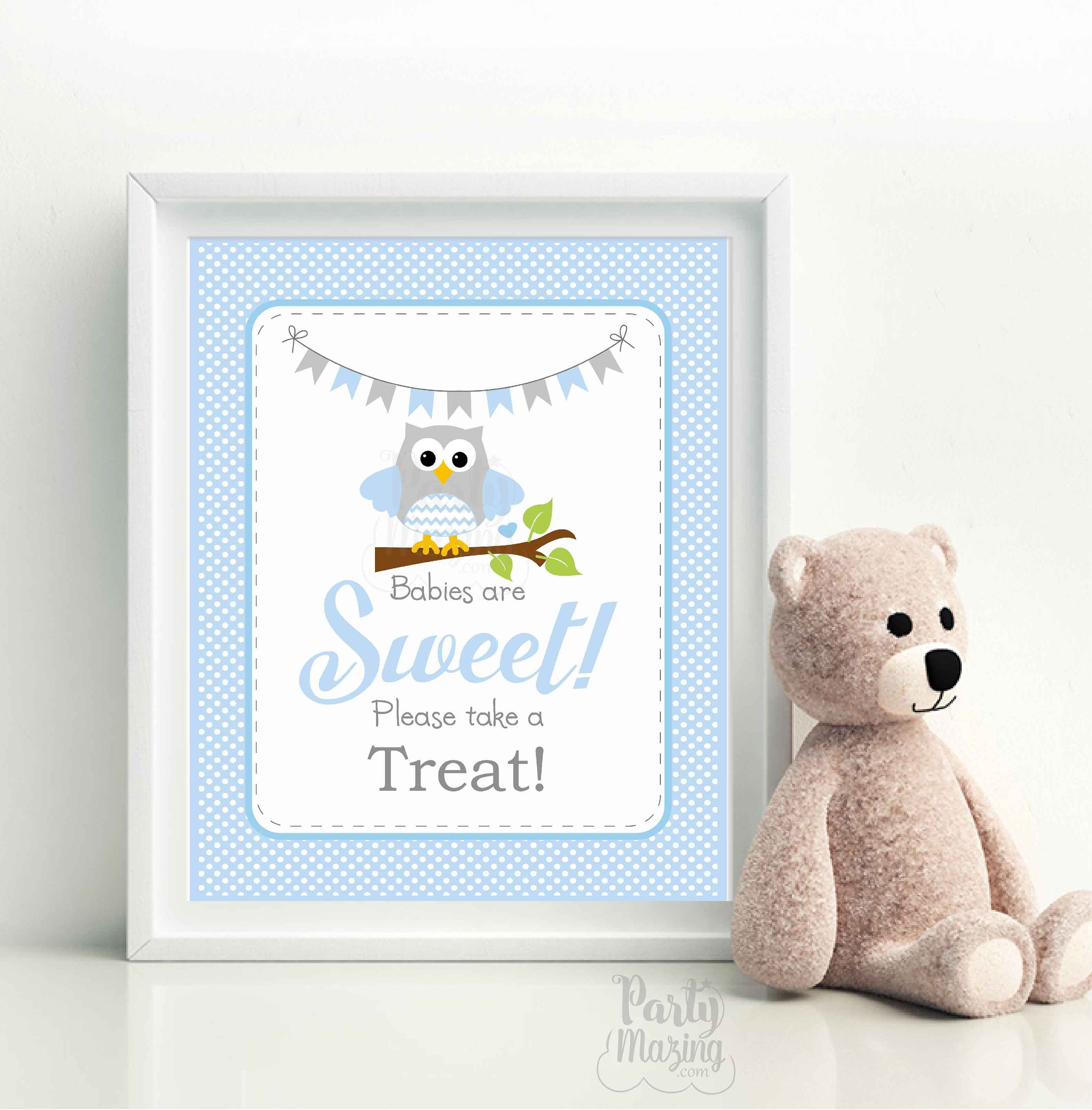 Babies Are Sweet Please Take A Treat Party Sign Printable Owl Baby