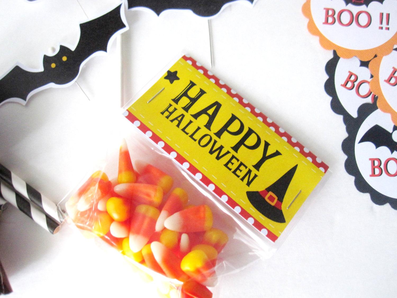 Halloween Bag Toppers, Happy Halloween, Printable PDF ...