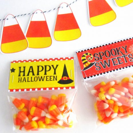 Halloween Bag Toppers, Happy Halloween, Printable PDF Treat Bag Tags, Printable Party Favor Bag Topper , Instant download D485 HOHW1