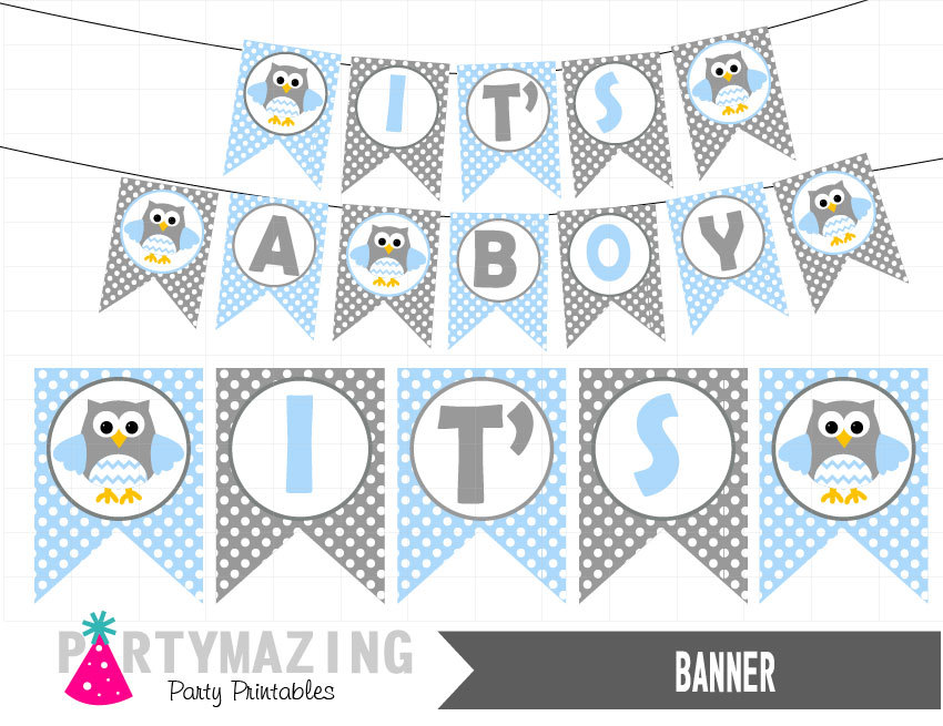 image relating to Baby Shower Banner Printable named Its a Boy Owl Printable Banner, Child Blue Youngster Shower, Do it yourself Printable Banner, bash Decor Indication, Immediate Obtain -D547 BBOB1