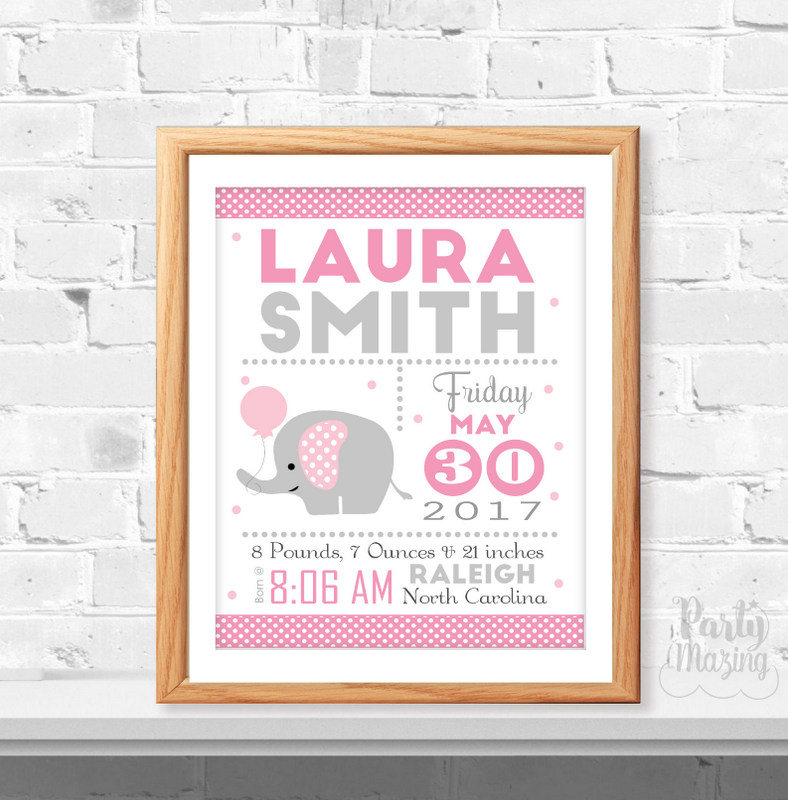 image regarding Printable Baby Announcement named Crimson Elephant Beginning Announcement, Printable Youngster Start Studies, Impressive Kid, Start statistics, Elephant Nursery ,Quick Obtain -D372 BBEP1 BBEP2