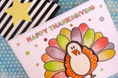 Cute Turkey Thanksgiving Coloring Page