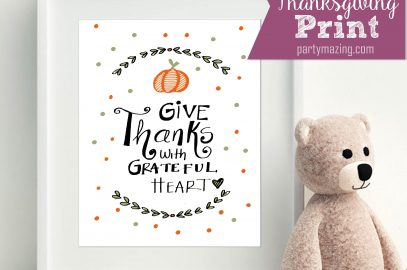 Give Thanks With Grateful Heart Free Print