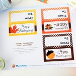 Last Minute Printable Thanksgiving Bag Toppers, Happy Thanksgiving Tags, Printable PDF Treat Bag Tags, Party Favor Topper D498