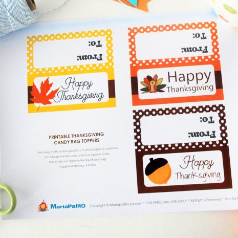 photograph regarding Printable Bag Toppers identified as Closing Moment Printable Thanksgiving Bag Toppers, Delighted Thanksgiving Tags, Printable PDF Deal with Bag Tags, Social gathering Prefer Topper D498