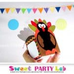 Printable Thanksgiving Turkey Box, Turkey Printable Party Favor Box, Instant Download -D081 HOTH1