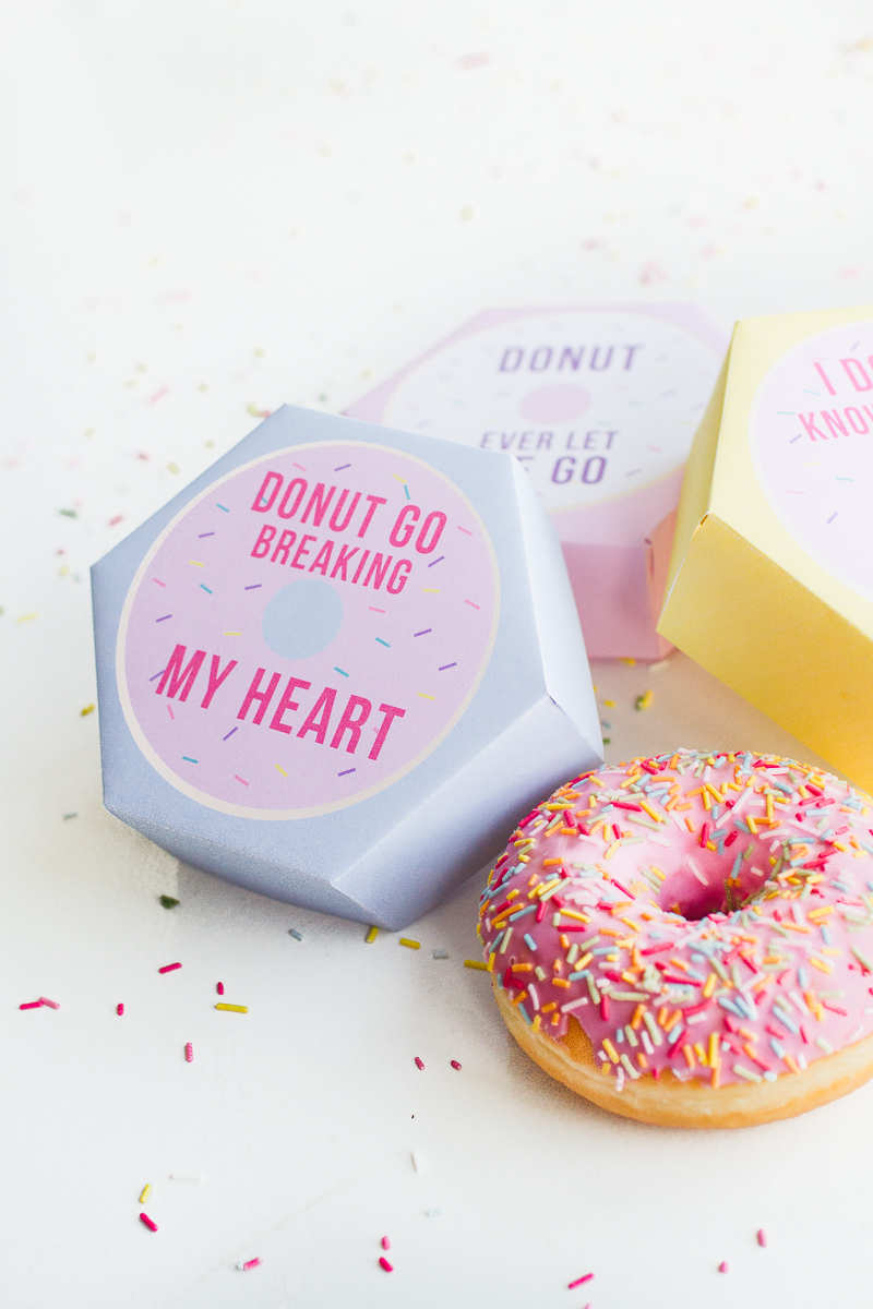Printable DONUT BOXES FOR YOUR VALENTINE!