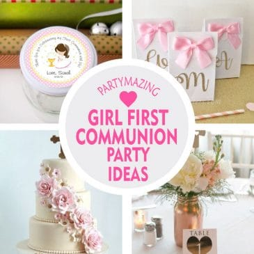 +9 Girl First Communion Party Favors and Party Ideas