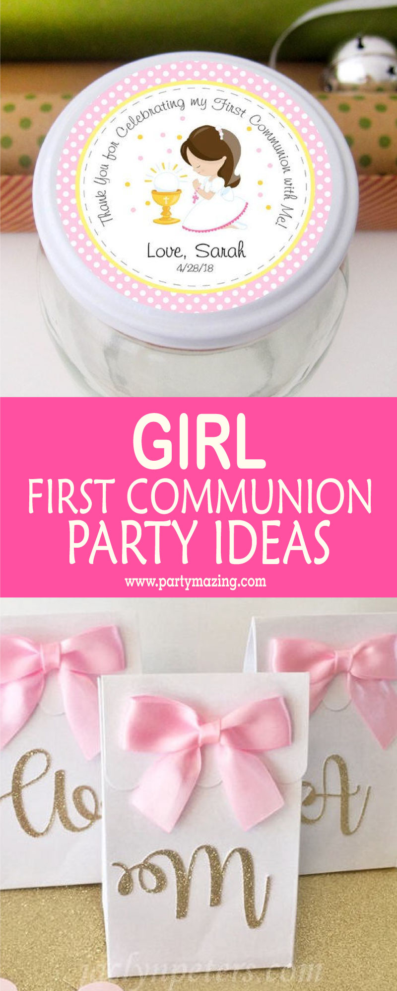 9 Girl First Communion Party Favors and Party Ideas - Partymazing