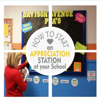 How to start a School Appreciation Station