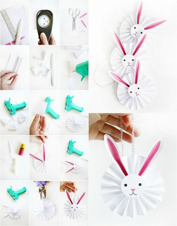 DIY PRINTABLE BUNNY ROSETTES AND 33 Easter Party Decor Ideas and Crafts for your Egg Hunting Party - Get ready for this happy celebration with the kids.