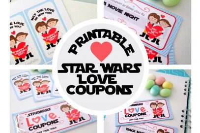 Printable Star Wars Love Coupons for Valentine´s Day