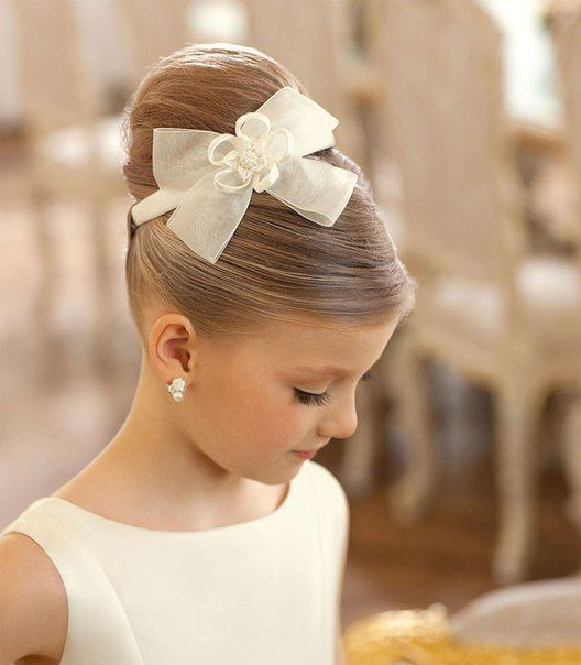 Hair Style Ideas for your little girl for Weddings or First Communion. Girl First Communion Party Ideas and Templates to make an amazing Party. Get inspired to create your own unforgettable celebration for your little girl.