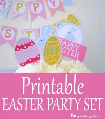 Printable Easter Party Set & Assembling Process